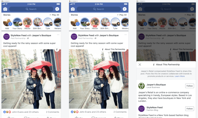 Facebook aims to give more transparency around brand-influencer relationships